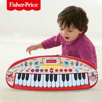 FISHER-PRICE Children Electronic Piano Keyboard Toy Early Educational Music Light Musical Instrument Baby Gifts popular musical instrument keyboard toys portable baby kids animal farm music piano developmental toy children gifts