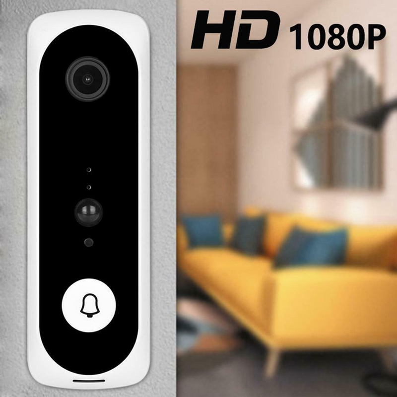 V20 Smart WiFi Video Doorbell Camera Visual Intercom With Chime Night Vision IP Door Bell Wireless Home Security Camera White