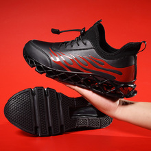 лучшая цена Running Shoes Men 2019 Shock-Absorbant Men Shoes Luxury Brand Hard-Wearing 39-48 Male Running Sneakers Anti-Slippery Sport Shoe