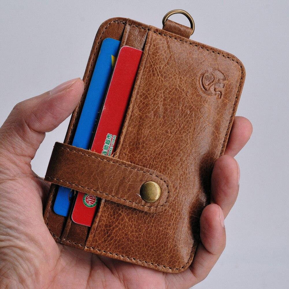 Мужской тонкий кошелек из натуральной кожи держатель для карт США мужчин в