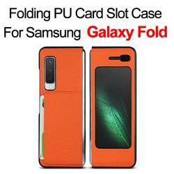 Do Samsung galaxy Fold Case 360 pełna ochrona matowa skóra luksusowe ochronne etui na telefon do etui galaxy fold w Etui na telefon z klapką od Telefony komórkowe i telekomunikacja na