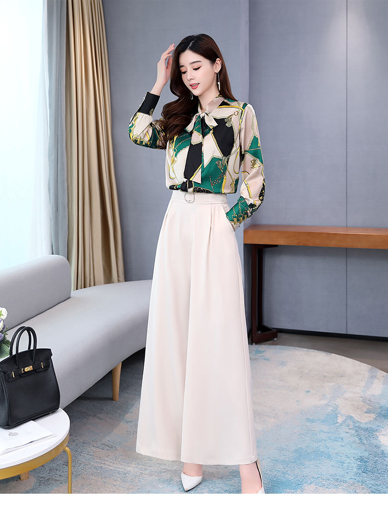 Hc224b3bb1f784902a5907a43d4516e03r - Summer Two Piece Set OL Women Sets Plus Size Two Piece Set Top And Pants Wide Leg Pants Woman Tracksuit /outfit/suit/Set 2 Piece