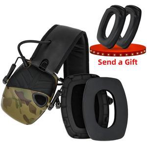 Image 4 - Elektroniczne nauszniki taktyczne słuchawki przeciwhałasowe wzmocnienie dźwięku strzelanie polowanie ochrona słuchu ochronne taktyczne nauszniki
