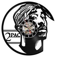 Vinyl Wall Clock Modern Design Living Room Decoration Creative 2 PAC Unique Watch Wall Clocks Home Decor Silent 12 inch