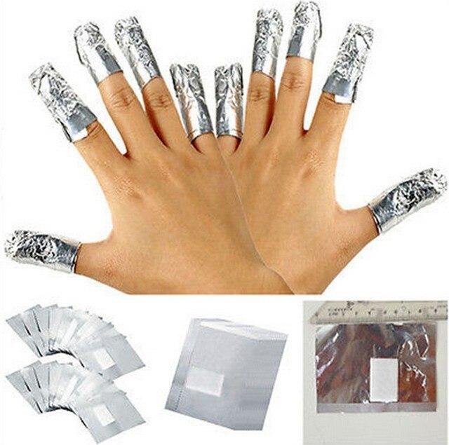 100 шт Люминесцентная Фольга для ногтевого дизайна удаляемая