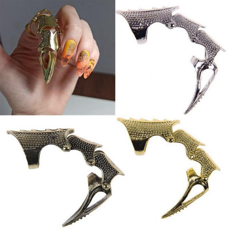2020 Новое крутое готическое панк Рок металлическое шарнирное кольцо Броня для мужчин женщин мужчин полный палец костяшки кольцо с когтями ...