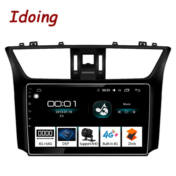 """Idoing 10.2""""4G+64G Car Radio Multimedia Video Player Navigation GPS Android auto For Nissan Sylphy 2012-2016 NO 2 din 2din DVD"""