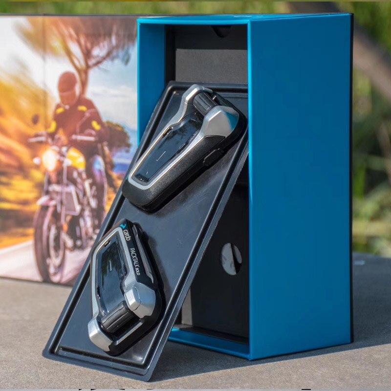 Fodsports 2 stücke Cardo packtalk Motorrad Helm Bluetooth Headset Intercom Fahrer 1600M Drahtlose Intercomunicador