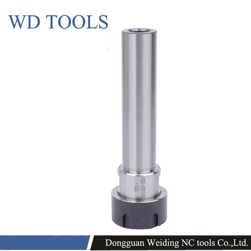 C25-ER11-ER32 Straight Shank Collet Chuck Holder Tool CNC Milling Extension Rod