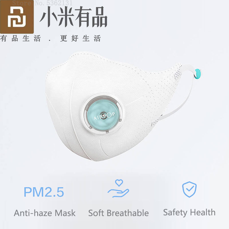 Youpin Airpop Light F95 Mouth Masks PM2.5 Anti-haze Face Mask Adjustable Ear Hanging Anti Pollution Filter Respirator For Adults