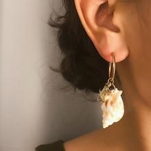 New Bohemian Conch Starfish Earring For Women Charm Gold Drop Fashion Jewelry Gifts