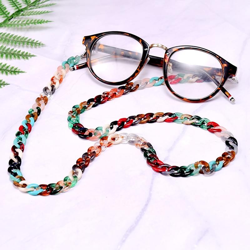 MOON GIRL 72cm Acrylic Sunglasses Chain Women Anti Slip Reading Eyewears Ribbon Clip Mask Holder Neck Strap Lanyard Dropshipping 5