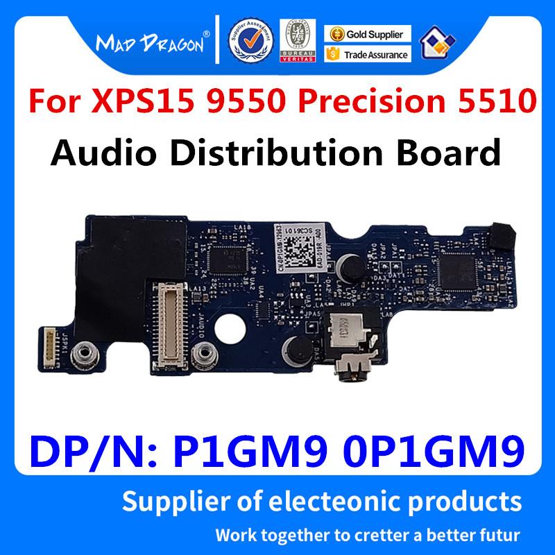 MAD DRAGON Brand Laptop NEW Audio Port IO Circuit Board For <font><b>Dell</b></font> <font><b>XPS</b></font> 15 <font><b>9550</b></font> XPS15 <font><b>9550</b></font> Precision 15 5510 M5510 P1GM9 0P1GM9 image
