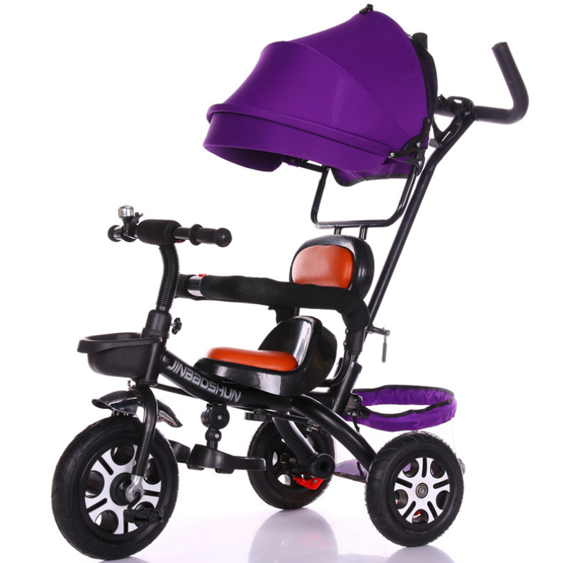 Fast-selling Multi-function Children's Tricycle Pedal-type Four-in-one Stroller Inflatable Explosion-proof Wheel Tricycle