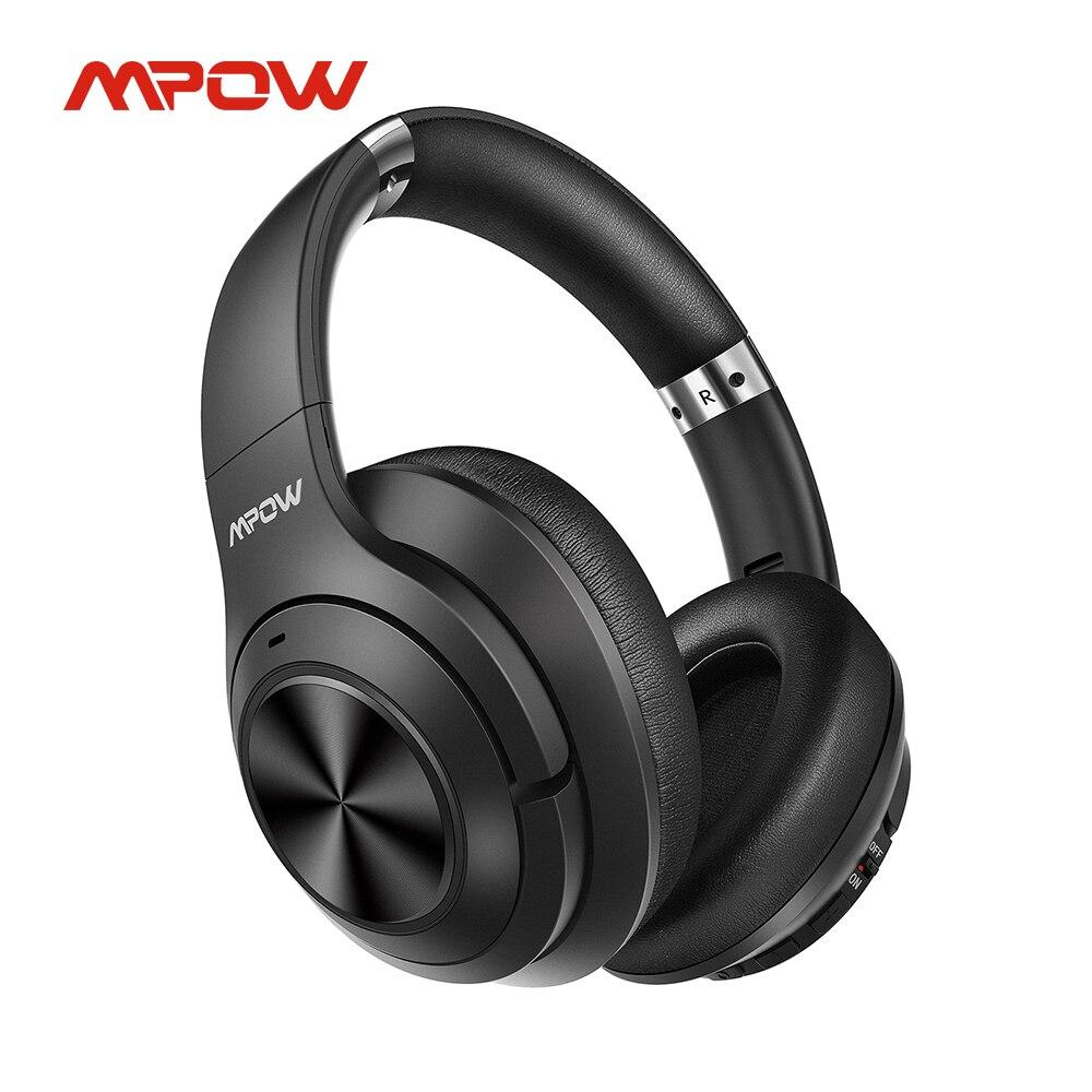 Mpow H21 Беспроводной наушники Гибридный активный Шум шумоподавлением Bluetooth наушники с 65 часов проигрывания HD стерео звук Проводная гарнитура