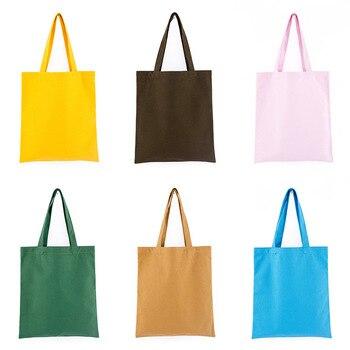 GABWE Unisex Handbags Custom Canvas Tote Bag Print Grocery Daily Use Reusable Eco Cotton Travel Casual Shopping Women Totes 2