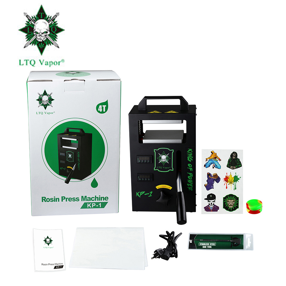 LTQ Vapor Rosin Press Machine Wi/ High Pressure & Dual Heating Plates &  Adjustable Temperature & Oil Extracting Tool Kit Device