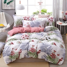Flower bird Bedding Set Plant Duvet cover Bed Linen Single Queen King Size Creative Bedclothes 3PCS home textiles