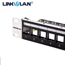 Brand New 24 Port Unload Modular Blank Patch Panel   Incl. cable manager bar &Linkwylan front panel with label field