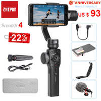 Zhiyun Smooth 4 Q2 3-Axis Handheld Smartphone Gimbal Stabilizer for iPhone 11 Pro Max XS XR X 8 Samsung S10 S9 PK Feiyu Vimble 2