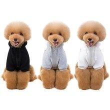 Pet Классическая зимнего теплого сна питомца одежда для собак, худи верхняя одежда с флисом для маленькие собачки Чихуахуа Костюмы куртка для щенка