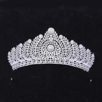 Wedding Hair Accessories Full Zircon Tiara Cubic Zirconia Crown Party Dress Diadem Headband For Women Brides Bridal Jewelry Gift