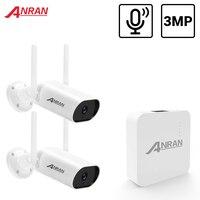 ANRAN 3MP Mini CCTV inalámbrico sistema de registro de Audio impermeable al aire libre P2P Wifi juego de cámara de seguridad Kit de videovigilancia APP