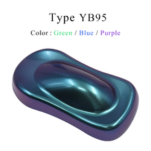 YB95 Chameleon Pigments Acrylic Paint Powder Coating Dye for Cars Arts Crafts Nails Decoration Painting Supplies 10g
