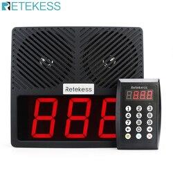 Retekess td101 restaurante teclado pager 433 mhz sistema de paginação chamada sem fio com altifalante display led para banco hospital