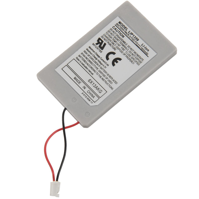 2x Battery <font><b>1800</b></font> <font><b>mAh</b></font> <font><b>3.7v</b></font> + USB Cable for Sony Console Controller PS3 PlayStation 3 White image