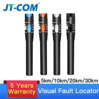 30mw FTTH Fiber Optic Tester Pen Type Red Laser optical fiberLight Visual Fault Locator Optical Cable Tester 10-30Km Range