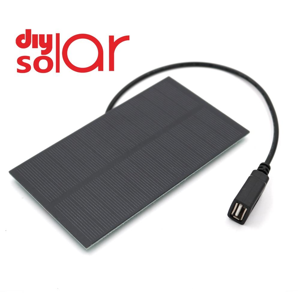 5 в 300 мА выход USB Солнечное зарядное устройство USB женский порт 5,5 В 1,65 Вт регуляторы заряда солнечная панель 3,7 в 18650