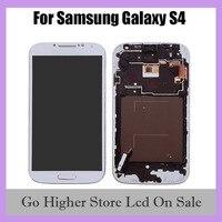 삼성 갤럭시 S4 LCD 디스플레이 터치 스크린 디지타이저 GT-i9505 i9500 i9505 i9506 i9515 i337 LCD 화면에 대 한 프레임