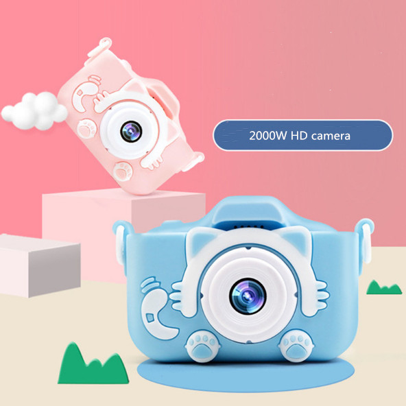 Kid's Camera 2000W HD1080P Digital Camera Dual Lens Cameras Recording Video With Fun Games Multi-function Camera Kids Camera Toy