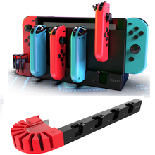 Nintend Switch Controller Charging Dock Station for Nintendo Switch Accessories NS Joy-Con Charger 4 Port Joycons 8 Game Slots