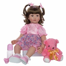 Braid girl 61cm very big silicone reborn baby dolls beautiful alive bebe girls gift toy newborn Babies modle doll