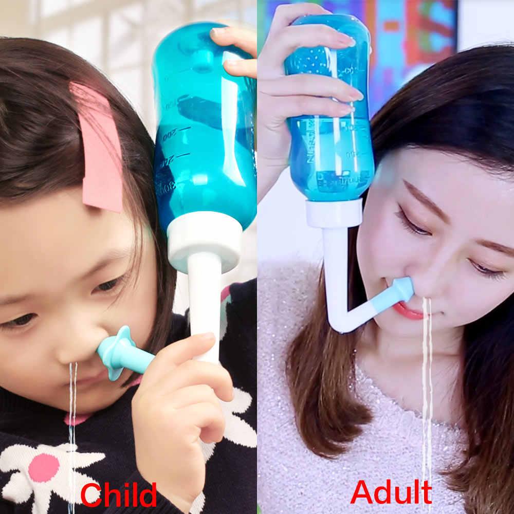 Средство для мытья носа для взрослых и детей, защита для носа из синусита, увлажняет, для детей и взрослых, избегает аллергического ринита, нети, горшок 300 мл