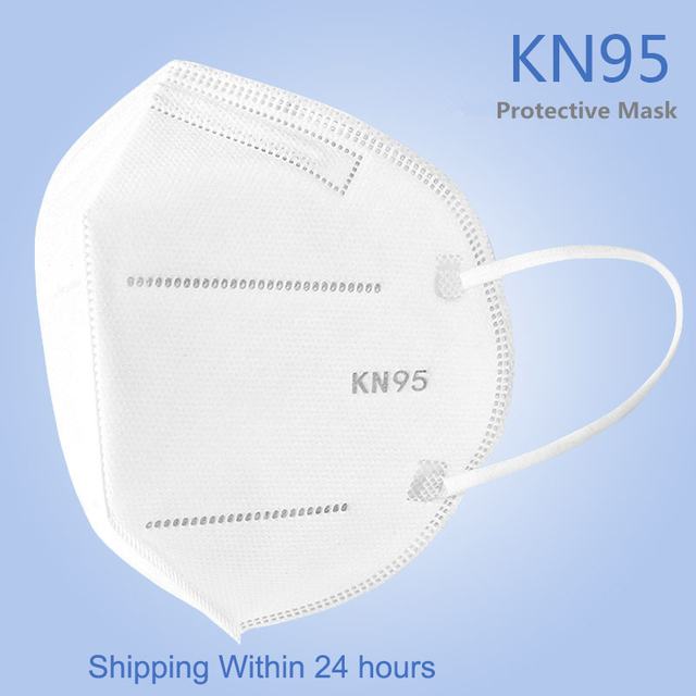 Fast Shipping KN95 5 Layers 95% Filtering Facial Face Masks Dustproof Safety Health Nonwoven Earloop KN95 Cover Mouth Dust Mask