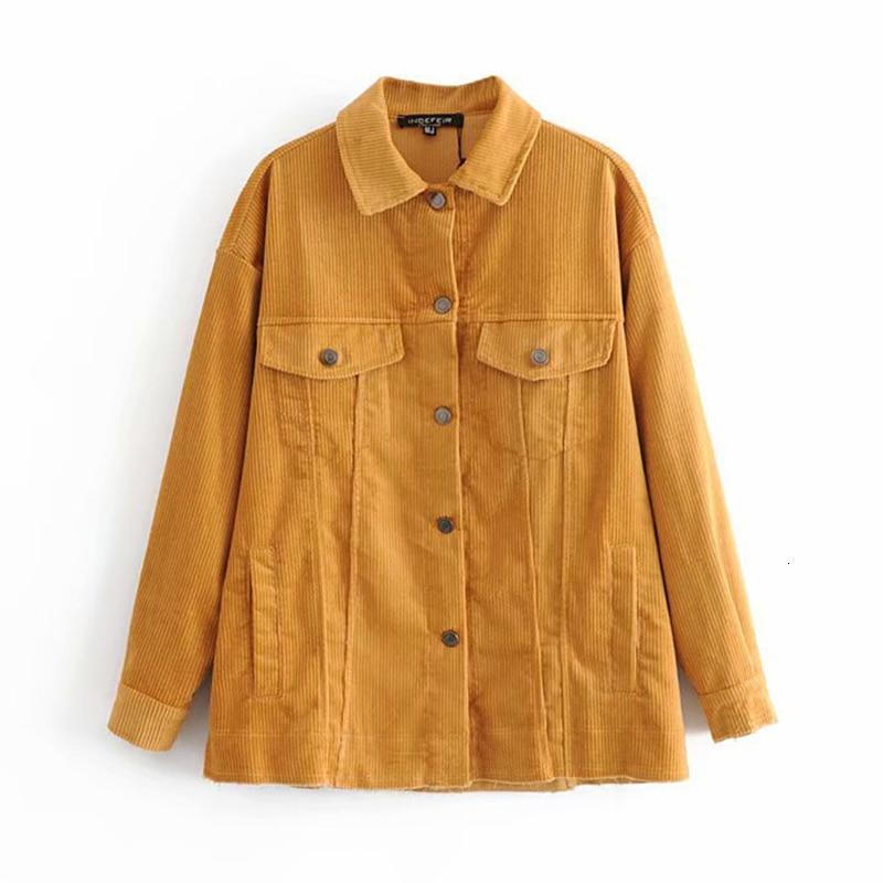 New Stylish 2019 Bomber   Jacket   Women with Pockets Katoon Corduroy Jas Women   Basic     Jackets   Plus Size Fashion Upwear