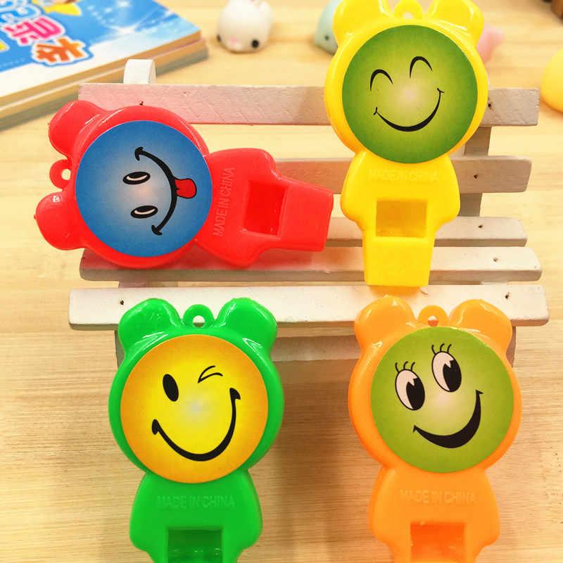 טרי ויפה צבעים בוהקים משרוקית תדלוק משרוקית ילדי פלסטיק שופט משרוקית לילדים צעצוע מתנה משחקים