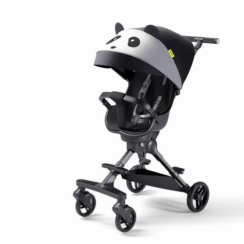 Baby stroller portable foldable baby stroller two way baby stroller portable baby walking artifact four wheel stroller