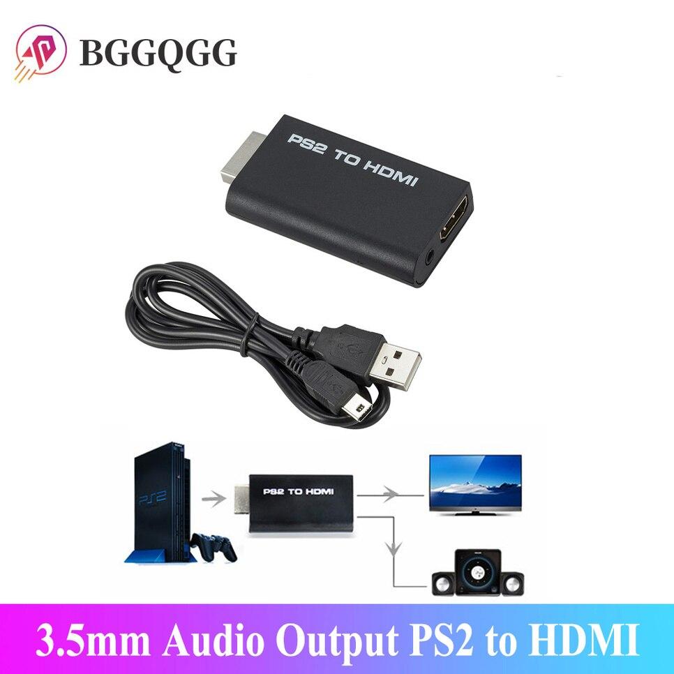 Convertisseur Audio-vidéo Portable PS2 vers HDMI 480i/480p/576i, avec sortie Audio 3.5mm, prend en charge tous les Modes daffichage PS2 vers HDMI