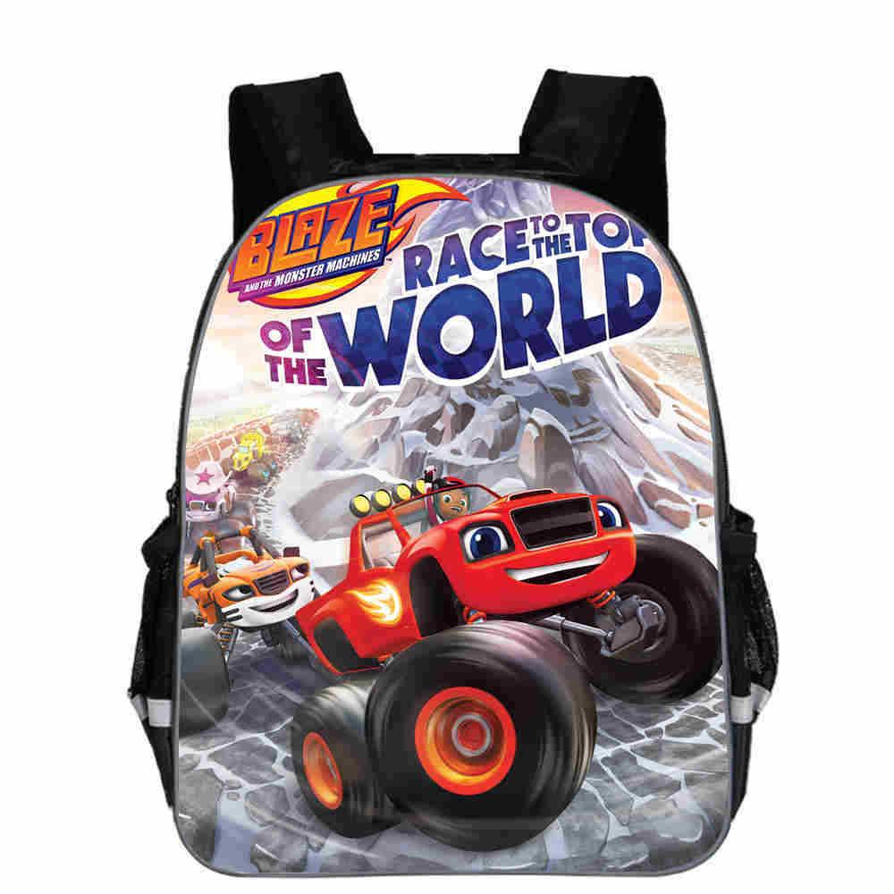 Blaze And The Monster Machine Backpack Boy Cartoon School Bags Orthopedic Backpack School Bags For Boys And Girl Mochila