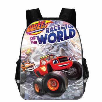 Blaze i potwór maszyna plecak chłopiec kreskówka torby szkolne plecak ortopedyczny torby szkolne dla chłopców i dziewcząt Mochila tanie i dobre opinie NYLON zipper children bag Cartoon 10cm Unisex 24cm kids schoolbag Backpack 30cm 0 3kg