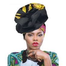Gele headtie já fez turbante africain femme africano cabeça envoltórios para o casamento