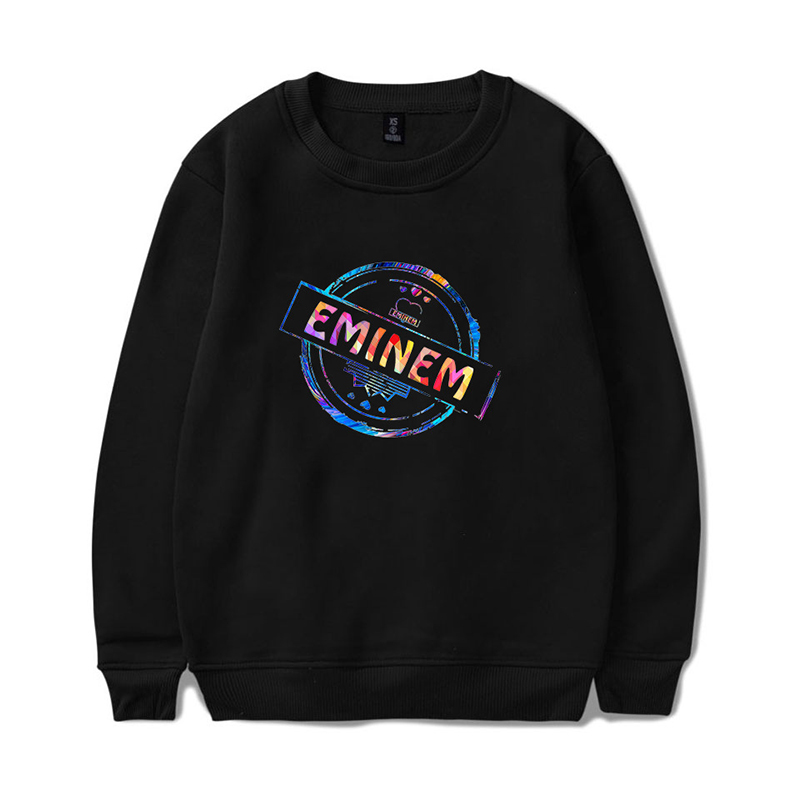 2019 New EMINEM Printing Trend Loose Fleece Cotton Round Neck Sweater Men And Women Youth Winter Dropshipping