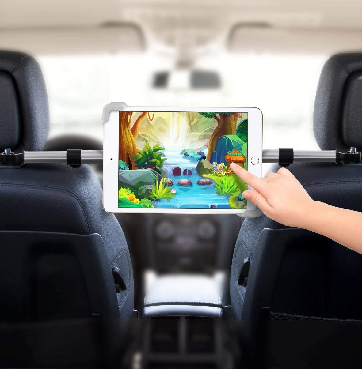 מתקן טאבלט לרכב למושב האחורי עם משחק לחיצה