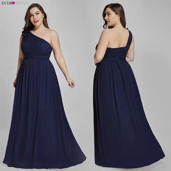 Plus Size Burgundy Chiffon Bridesmaid Dresses Long Ever Pretty EP08237 A-Line Sleeveless Elegant Formal Wedding Guest Gowns 2020