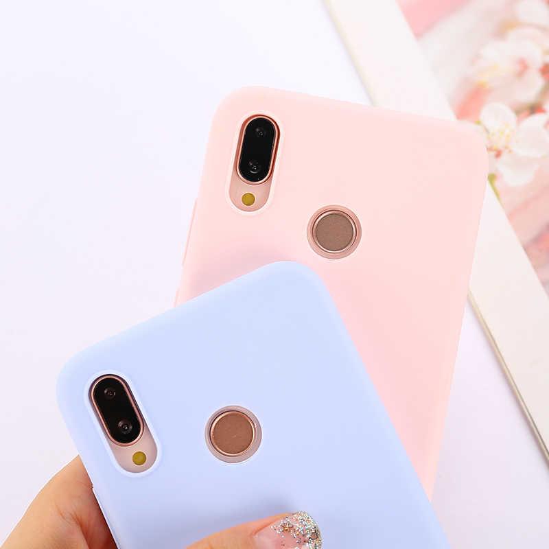 Şeker renk yumuşak kılıf kapak Samsung Galaxy A50 A70 A10 A20 A30 A40 A60 A70 A80 not 8 9 10 10 + S8 S9 S10 artı 5G Coque Funda