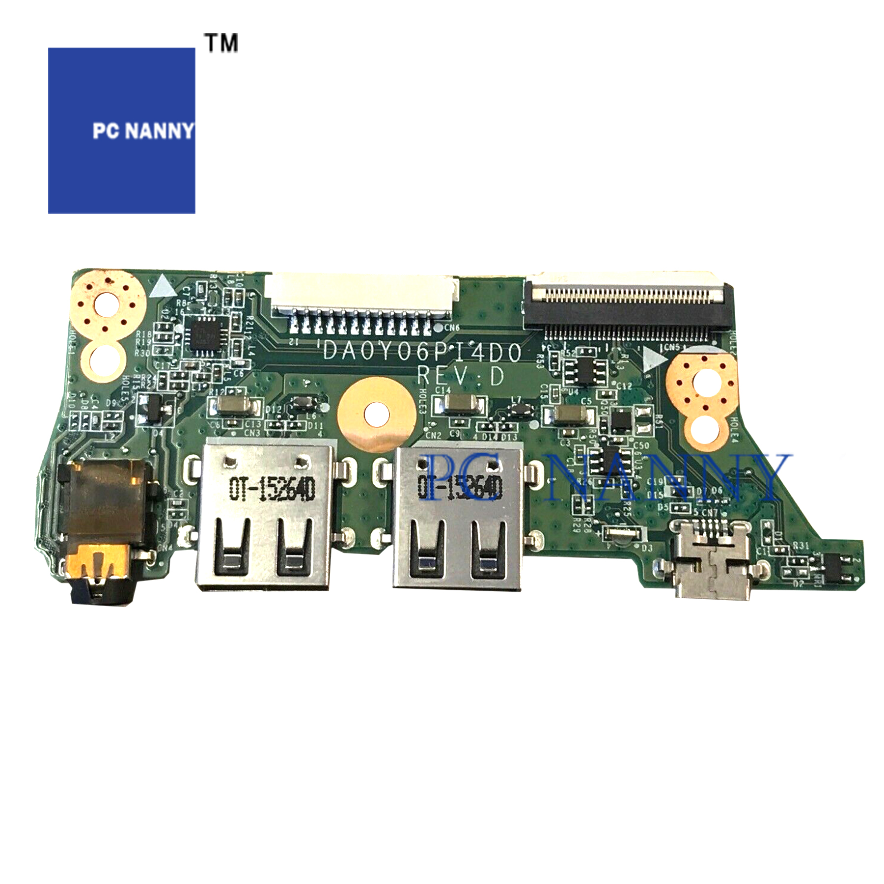 two USB 2.0 ports HP 761971-001 I//O board and micro-USB charging jack audio jack Includes cable ribbon cable